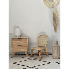 OPJET PARIS Bedside Table Boutique 2 Drawers Wood 48cm