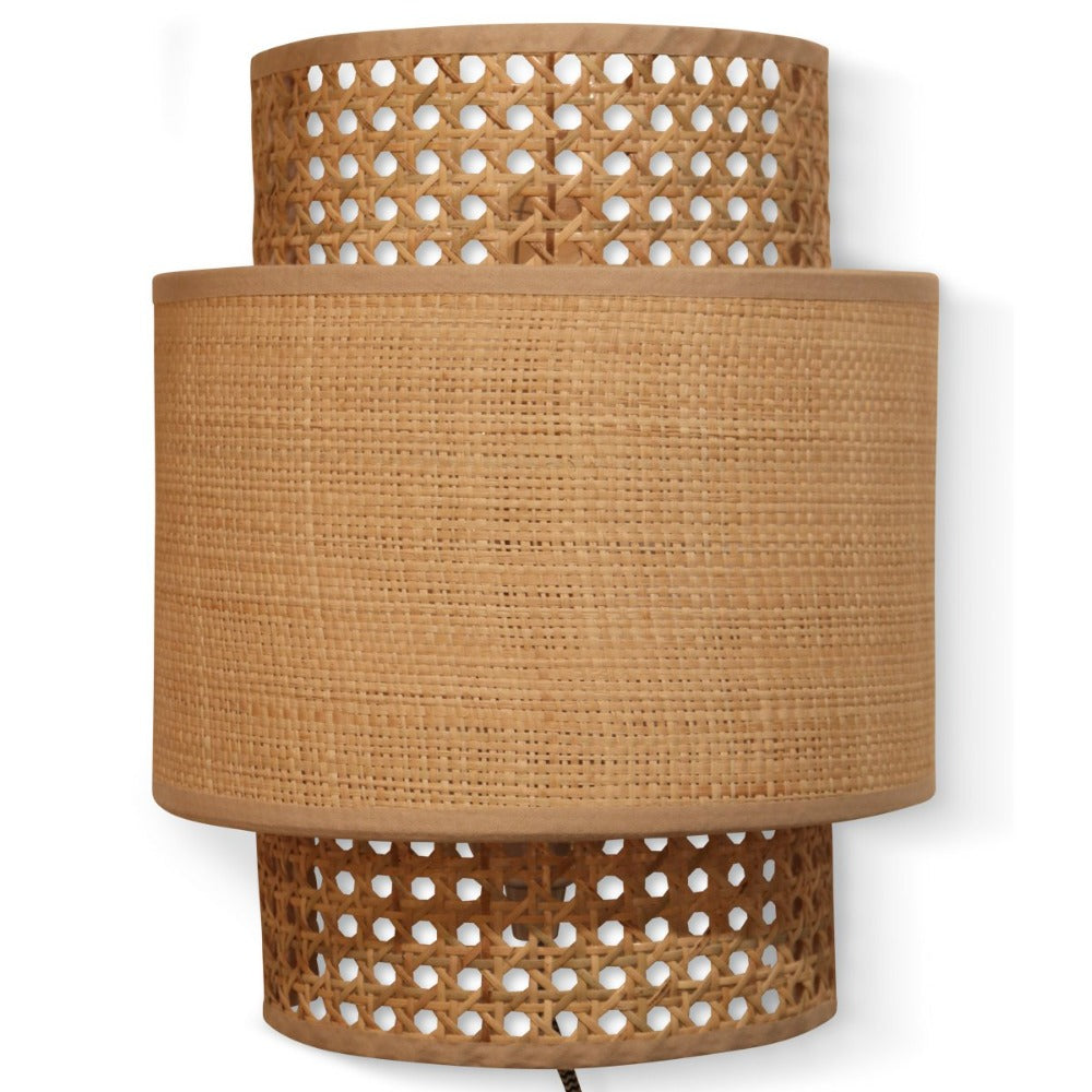 OPJET PARIS Wall Light Caned Raffia 30cm