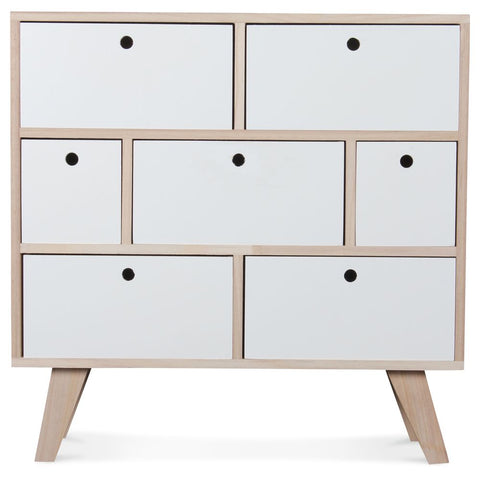 OPJET PARIS Chest Of Drawers 7 Drawers Wood 60cm