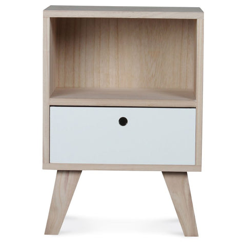 OPJET PARIS Bedside Table Boreal 1 Drawer Wood 50cm