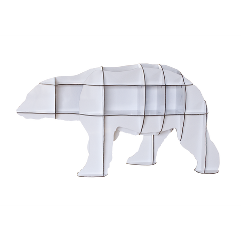 IBRIDE Bookshelf Small Polar Bear Junior 95cm
