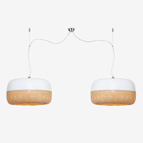 GOOD&MOJO Suspension Light Mekong Double Shades 60x33cm