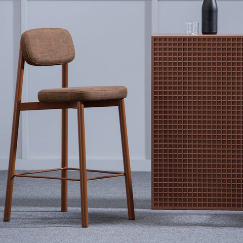 KANN DESIGN Bar Stool Residence Brick Red 65cm