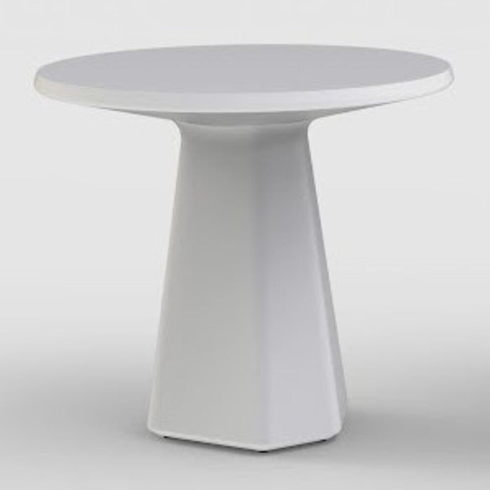 QUI EST PAUL Recycled Plastic Round Table Metamorphosis White Base 72cm