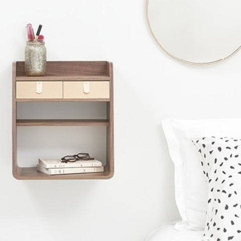 HARTO Wall-Mounted Storage Suzon Oak
