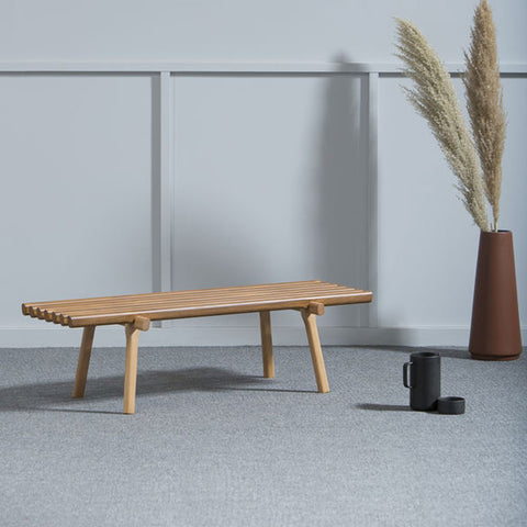 KANN DESIGN Bench Travis Teak Varnished Beech 115cm