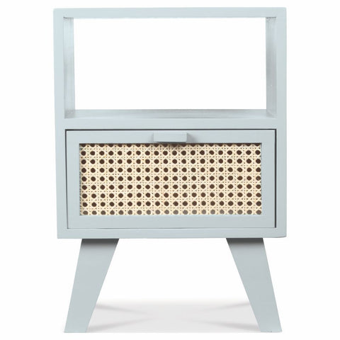 OPJET PARIS Bedside Table Paris 1 Drawer Wood & Rattan 54cm