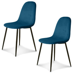 OPJET PARIS Set of 2 Chairs Josef Black Legs