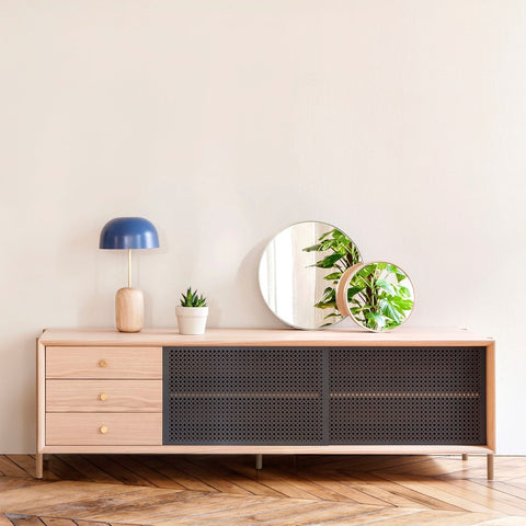 HARTO Sideboard Gabin Oak Version Light Grey 162cm