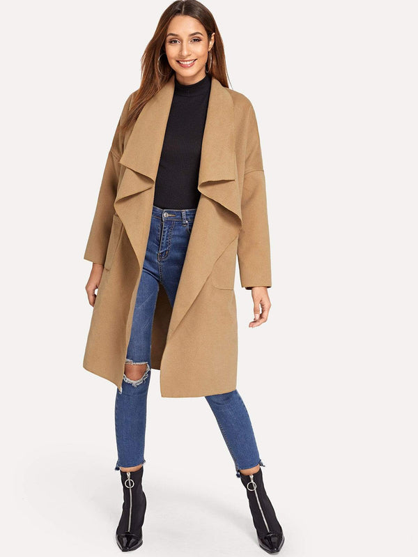 From The Trenches Pocket Front Waterfall Coat