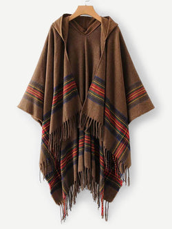 Talk Comfy To Me Poncho Sweater