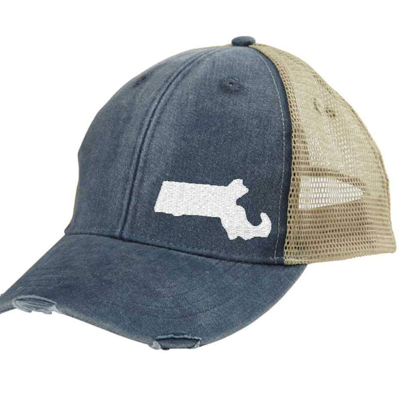 Gracie Designs - Off Center State Pride - Massachusetts Hat