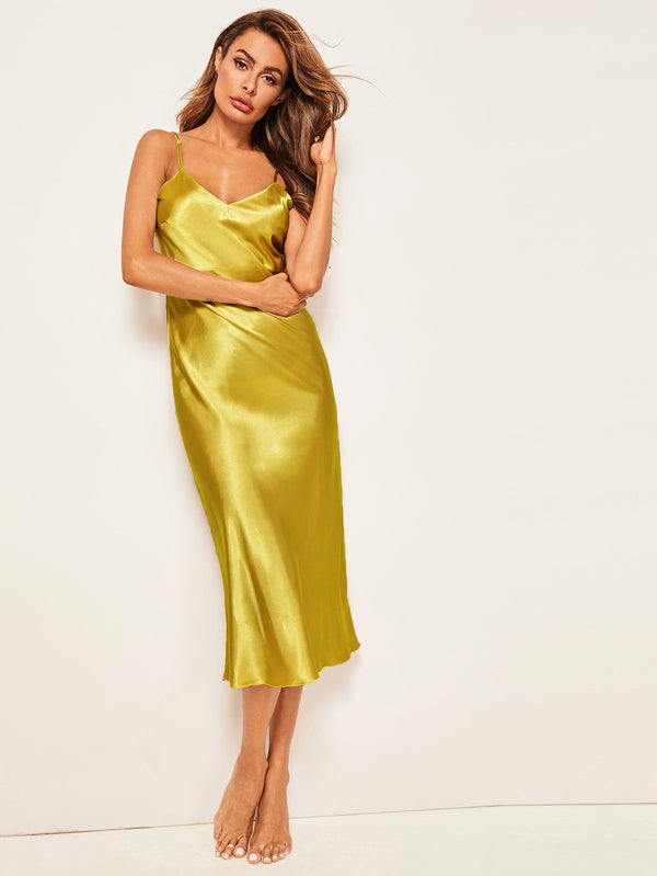 Silk Satin & Stiletto Cami Dress
