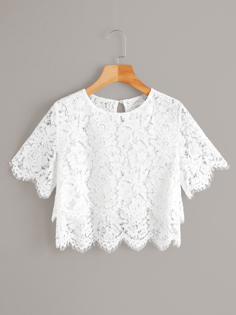 Winter Frost Crop Blouse