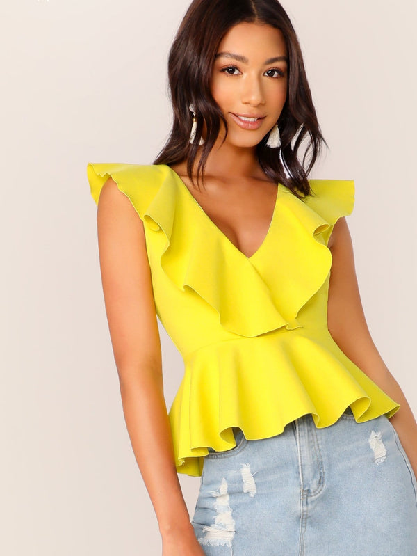 Proof of Sass Ruffle Peplum Top