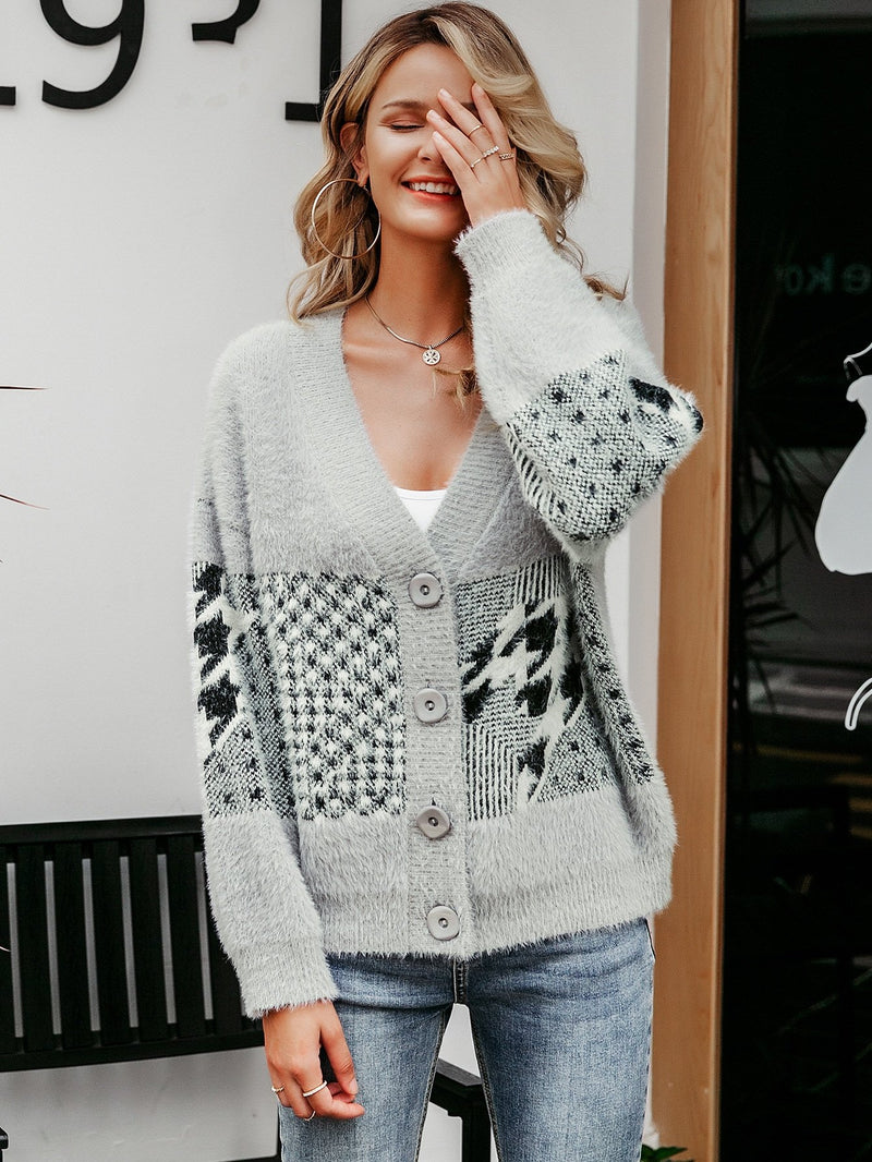 Only Pretty Things Fuzzy Sweater Cardigan
