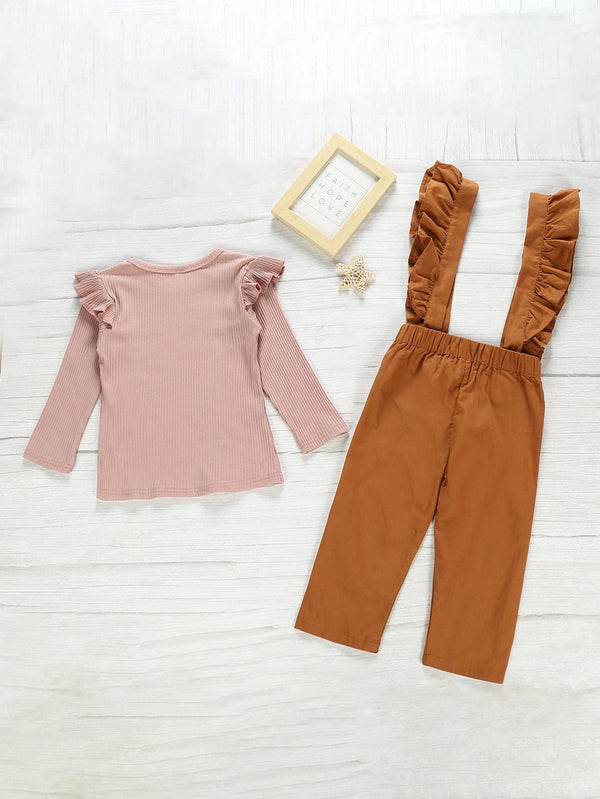Boho Babe Toddler Ruffle Trim Jumpsuit Set