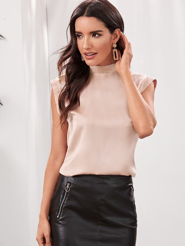 Don't Leave Me Hanging Satin Top