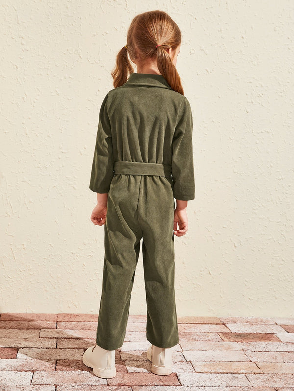 Olive You Corduroy Jumpsuit - Toddler Girls