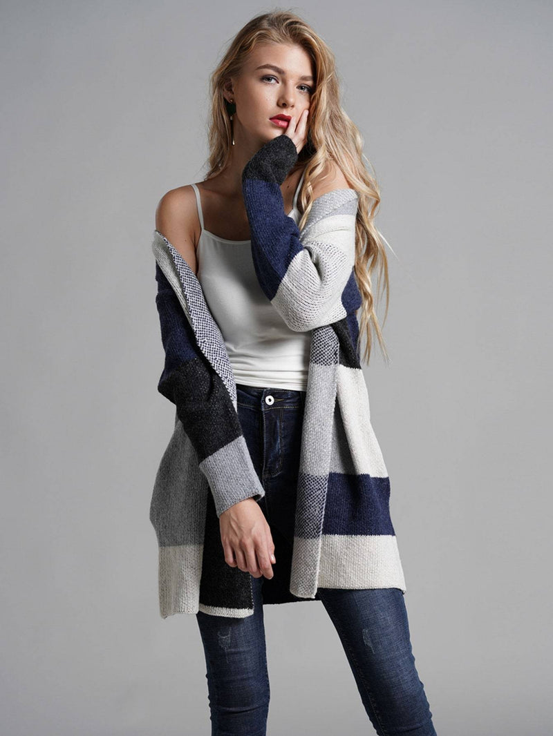 Think Outside The Box Open Front Cardigan