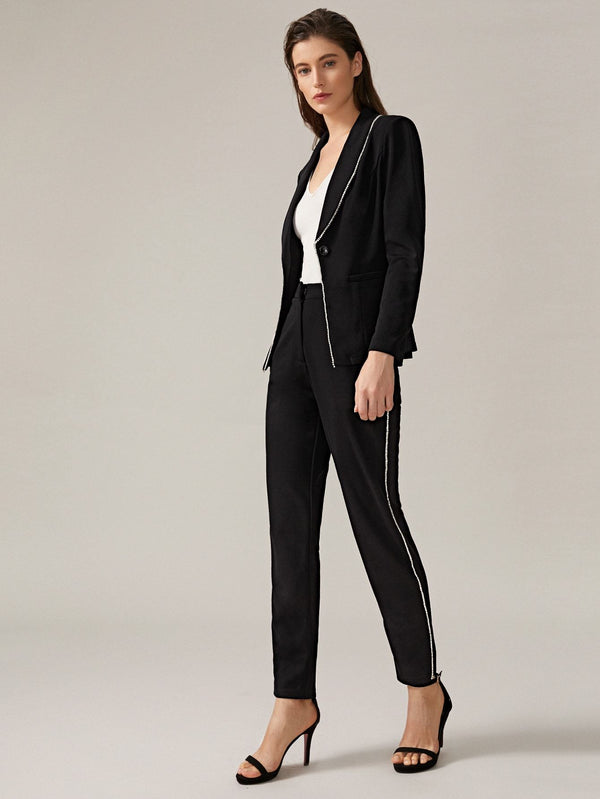 Boss BabeTrim Tailored Blazer & Pants Set