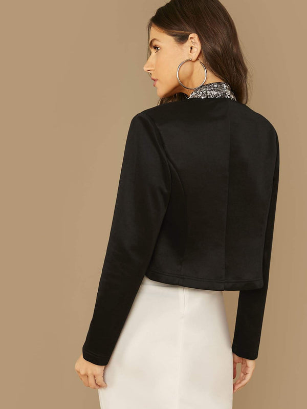 The Ritz Sequin Trim Blazer