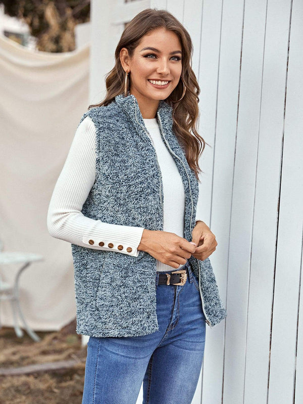 Bliss Teddy Vest Coat