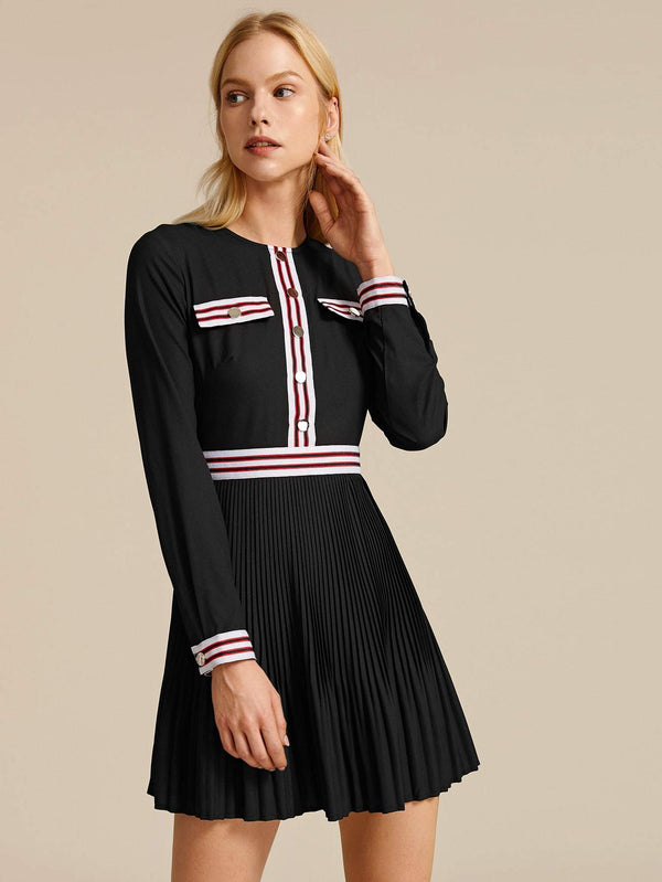 Game Set Match Front Pleated Dress