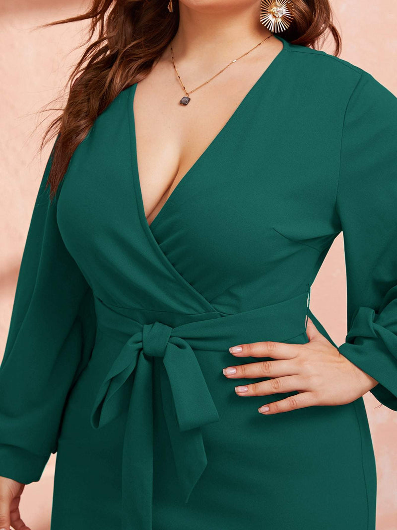 Beacon Wrap Dress - Curvy