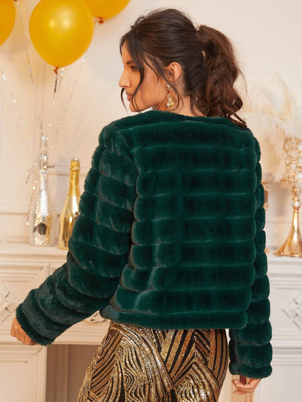 Jingle All The Way Faux Fur Coat