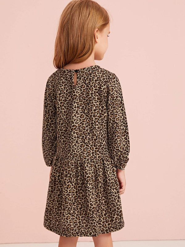Purrrrfect Leopard Ruffle Babydoll Dress