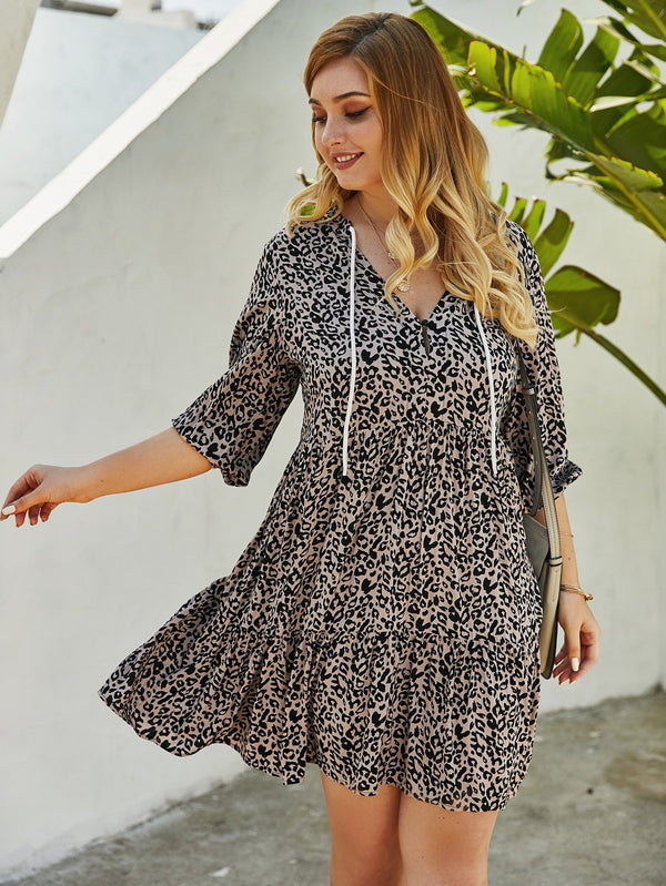 Avery Leopard Dress - Curvy