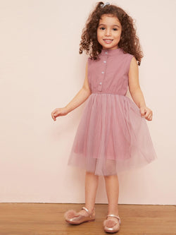 Pretty In Pink Toddler Girls Shirt Dress