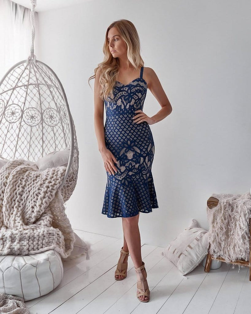 Ella Navy Lace Dress