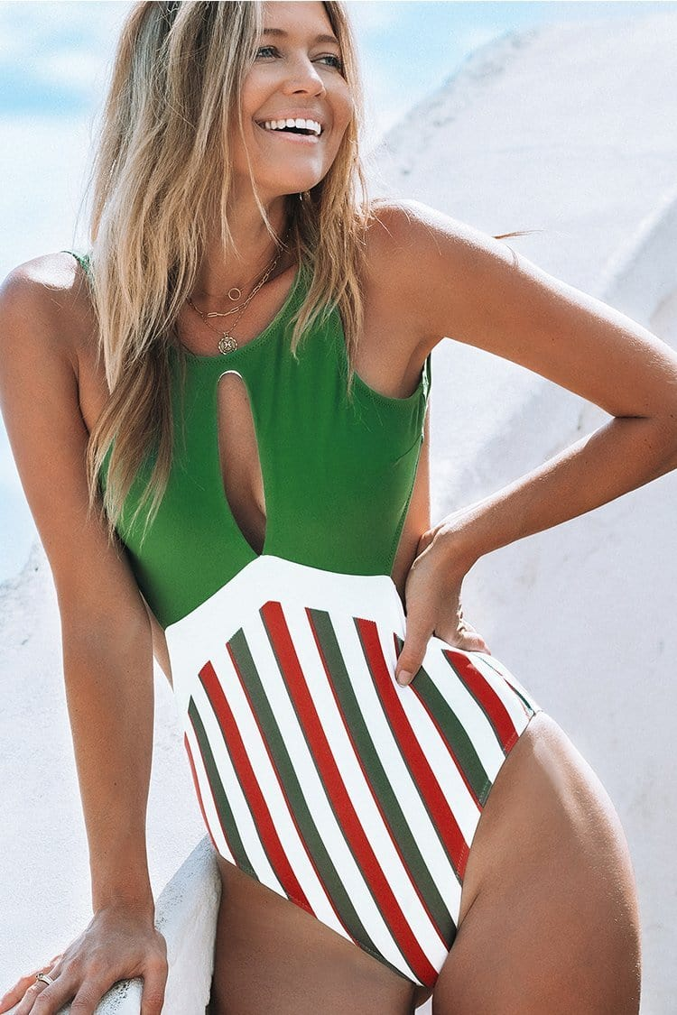 Follow Me To The Beach One-Piece Swimsuit