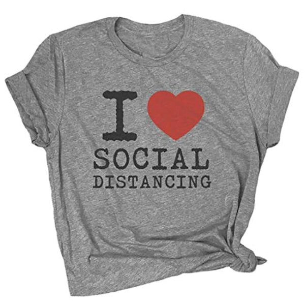 I Heart Social Distancing T Shirt - Limited Supply