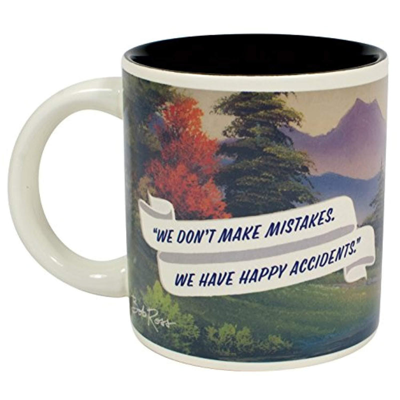 Bob Ross Heat Changing Mug - Add Coffee or Tea and a Happy Little Scene Appears - Comes in a Fun Gift Box