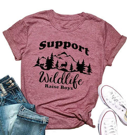 Support Wildlife Raise Boys T Shirt