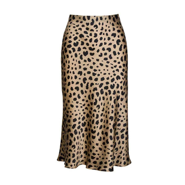 Stop In Your Tracks Leopard Midi Skirt