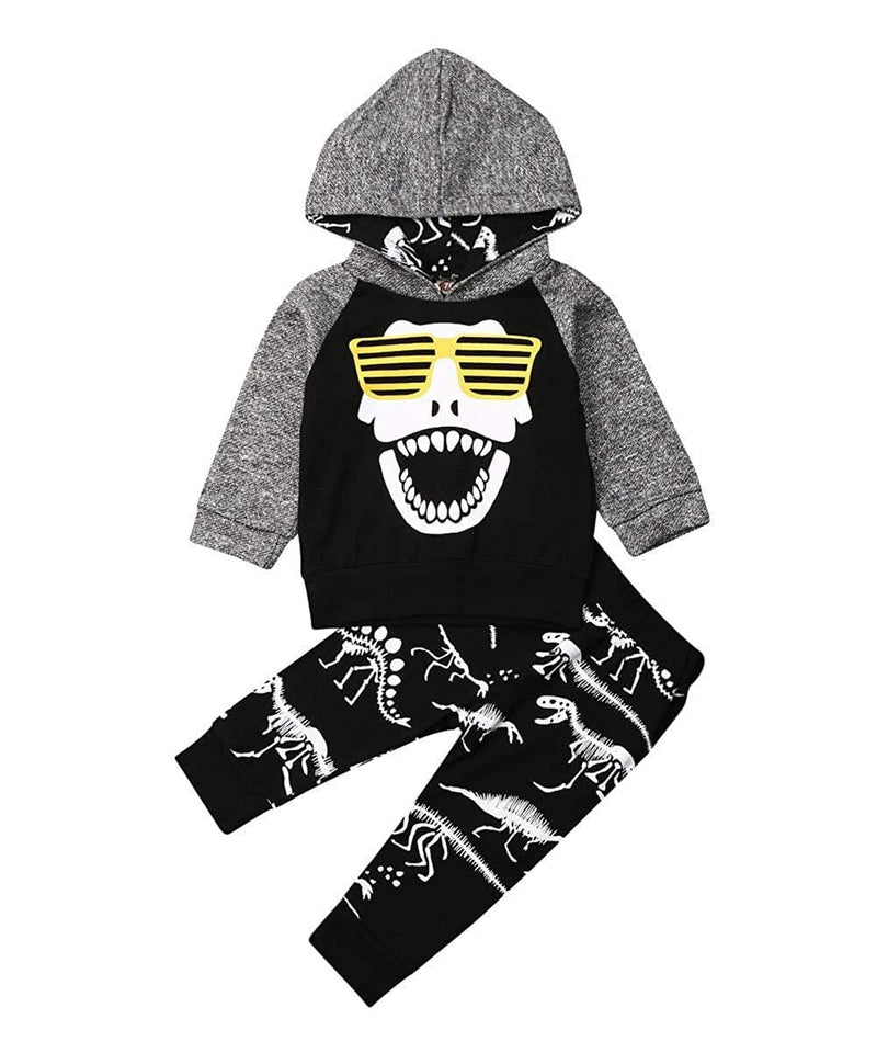 Dino Duo Sweatsuit- Toddler Infant Baby Boys