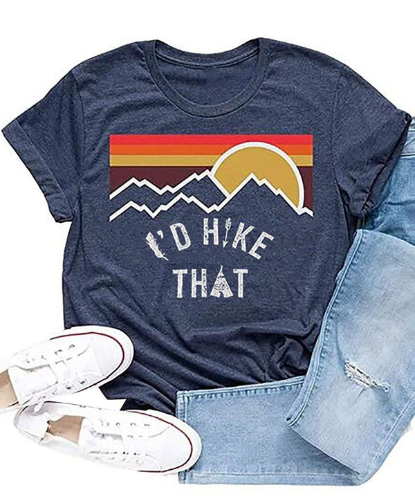 I'd Hike That Mountain Vintage T-Shirt