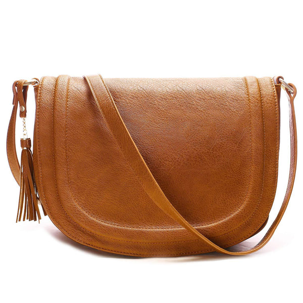 Nixon Flap Saddle Bag Multiple Pockets with Tassel