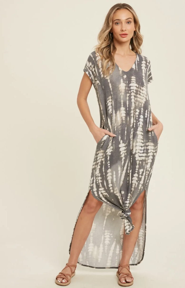 Bamboo Tie Dye Maxi Dress