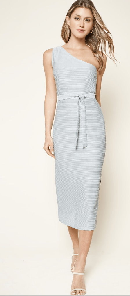 Sunny Days One Shoulder Midi Dress - Preorder