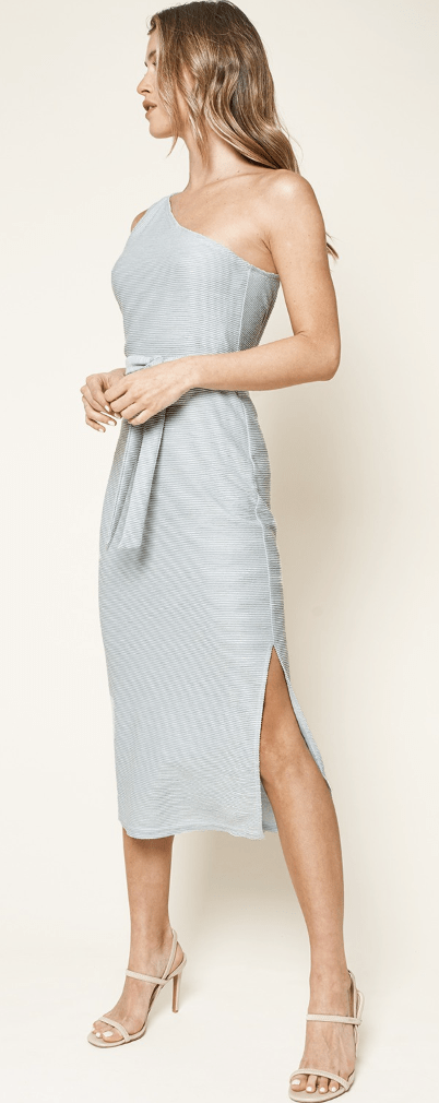 Sunny Days One Shoulder Midi Dress