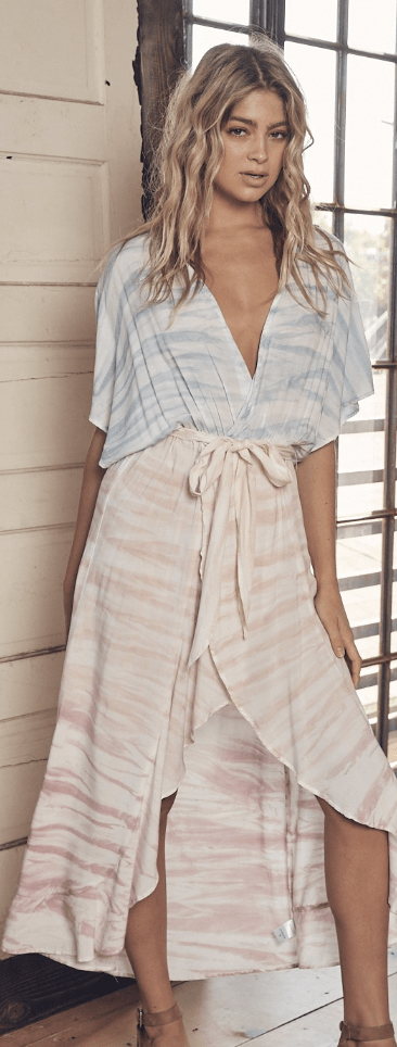Pretty In Pastels Wrap Dress - Preorder