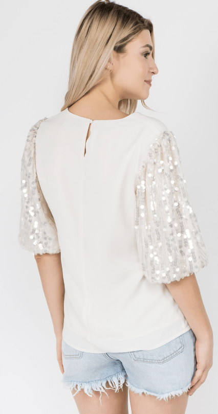 Before All Else Sequin Top - Preorder