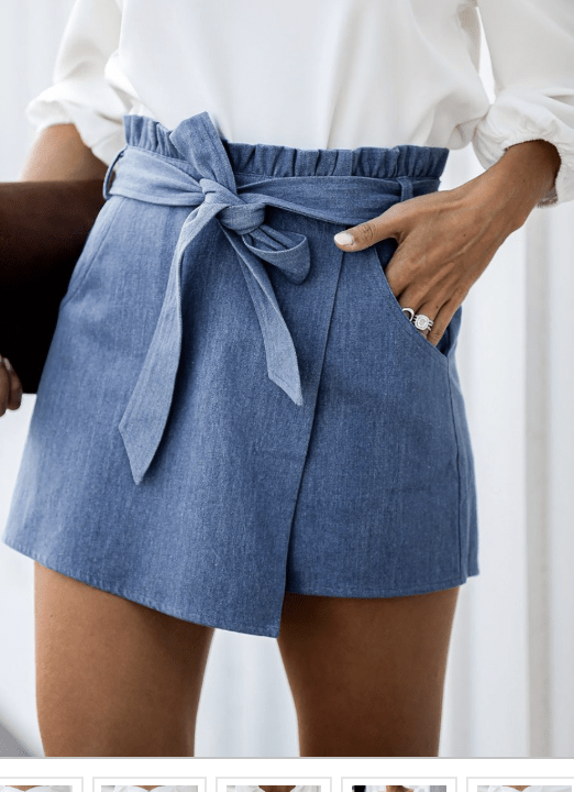 Once Loved Denim Wrap Skirt