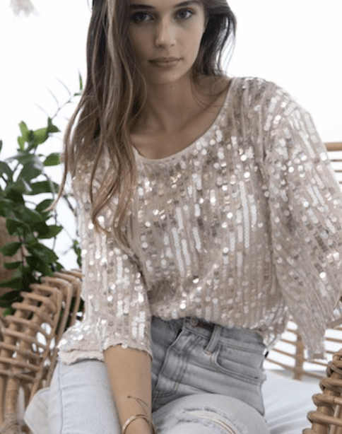Into The Light Sequin Top