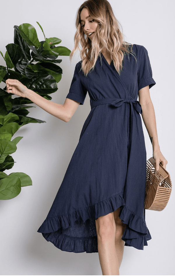 Follow Me There Wrap Dress - Preorder